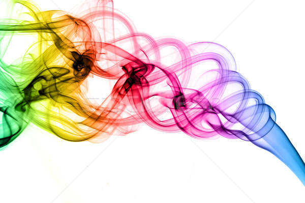 Magic colored fume shapes Stock photo © Arsgera