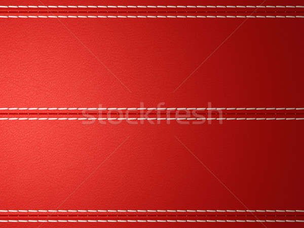 Red horizontal stitched leather background Stock photo © Arsgera