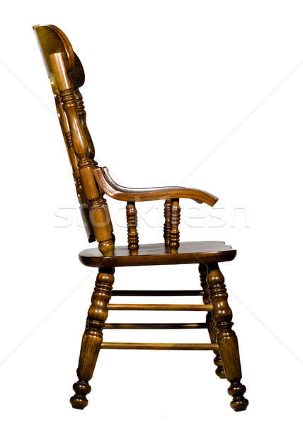 Antique wooden chair side view Stock photo © Arsgera