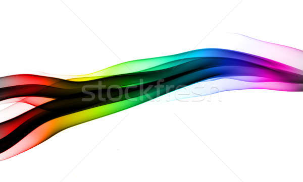 Abstract colorful fume wave on white Stock photo © Arsgera