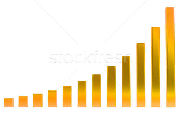 Growth: Orange diagram or chart on white  Stock photo © Arsgera