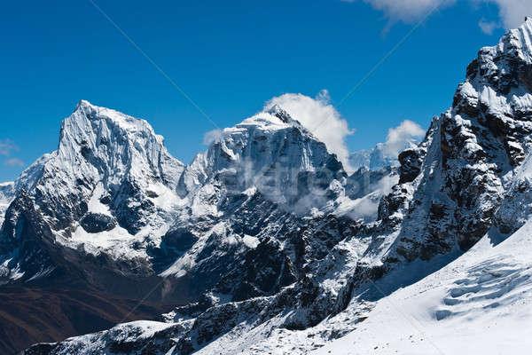 Yükseklik gökyüzü buz kaya taş Stok fotoğraf © Arsgera