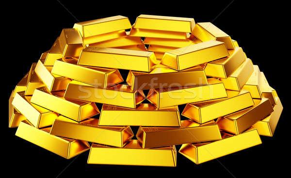 Abbondanza oro bar isolato nero business Foto d'archivio © Arsgera