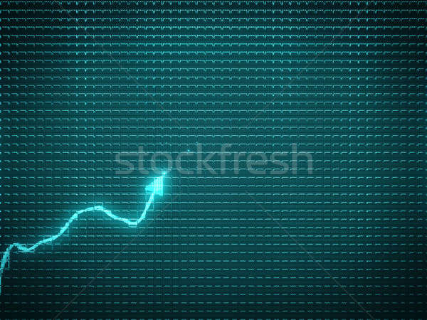 Blauw trend grafiek symbool economisch business Stockfoto © Arsgera