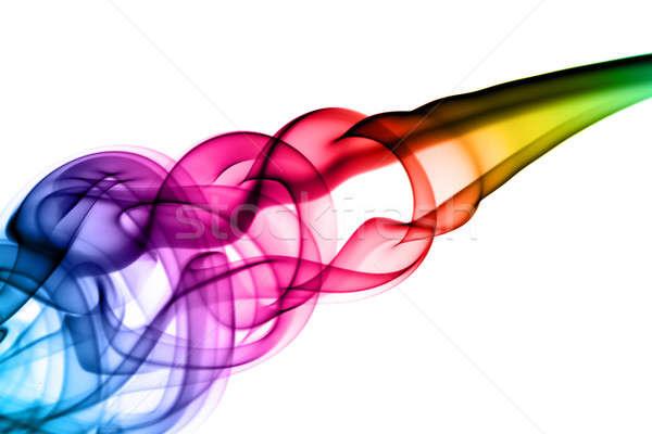Brillante colorido humo abstracción blanco luz Foto stock © Arsgera