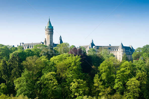 Luxembourg castle and green trees Stock photo © Arsgera