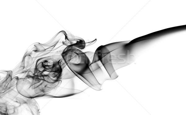 Abstract fume pattern on white Stock photo © Arsgera
