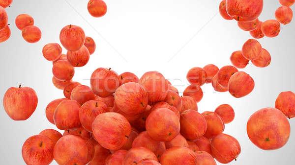 Smaczny czerwony jabłka szary żywności Zdjęcia stock © Arsgera