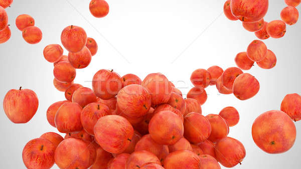 Sabroso rojo manzanas gris alimentos Foto stock © Arsgera