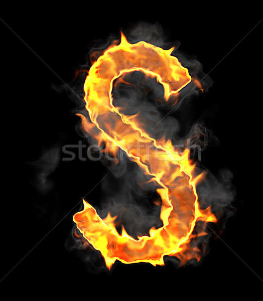 Burning and flame font S letter Stock photo © Arsgera