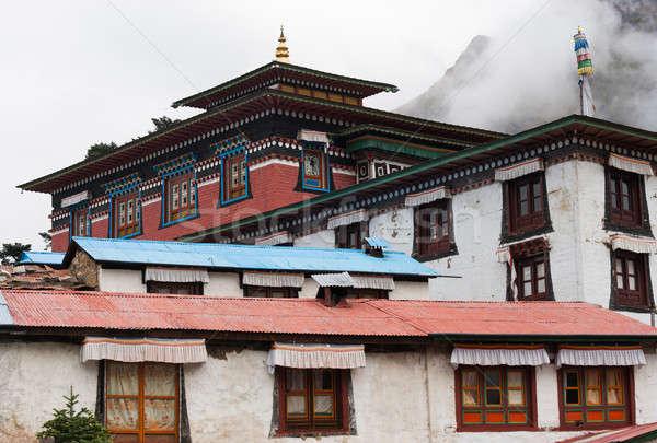 Klooster reizen wolken landschap Stockfoto © Arsgera