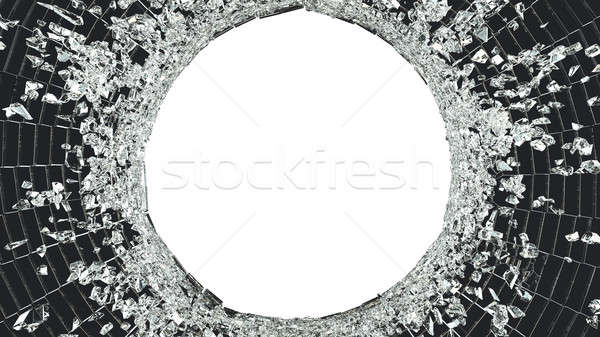Broken Shattered glass isolated: vandalism Stock photo © Arsgera