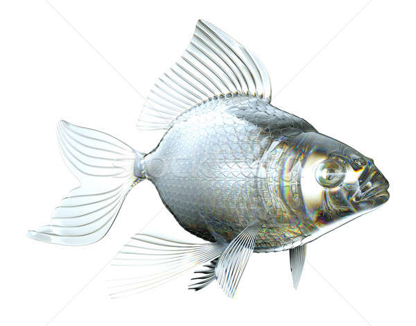 Beautiful semitransparent Glass fish isolated Stock photo © Arsgera