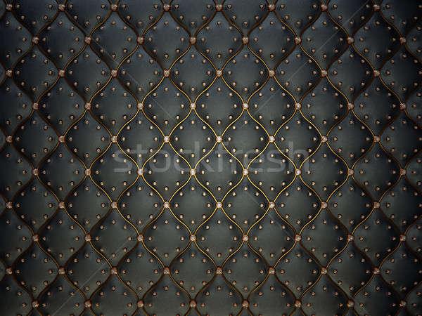 черный кожа шаблон проволоки Драгоценные камни Сток-фото © Arsgera