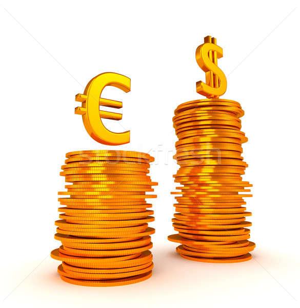 US dollar Currency dominancy over Euro Stock photo © Arsgera