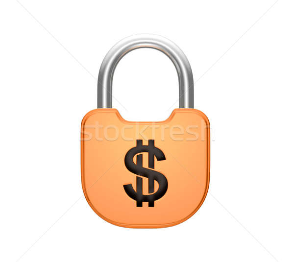 Locked padlock US dollar currency concept Stock photo © Arsgera