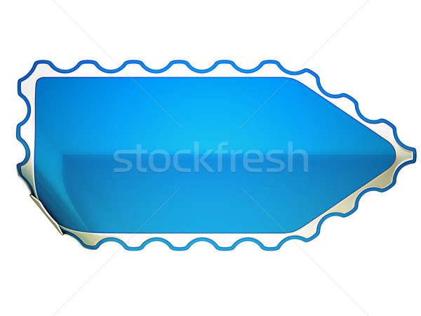 Jagged Blue bent sticker or label  Stock photo © Arsgera