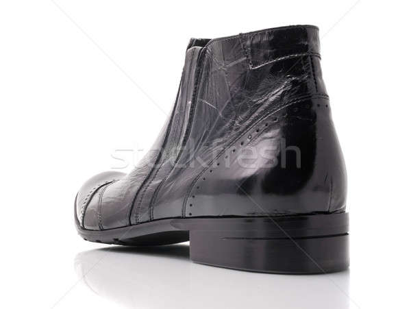 Black leather mens boot Stock photo © Arsgera