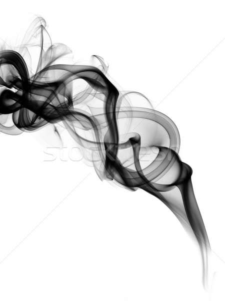 Black fume curves over the white Stock photo © Arsgera