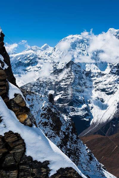 Montanhas rochas himalaia céu gelo Foto stock © Arsgera
