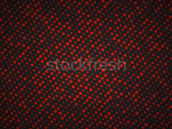 Polka dot pattern with red circles on black Stock photo © Arsgera