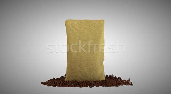 Sacking Pack and coffee beans Stock photo © Arsgera