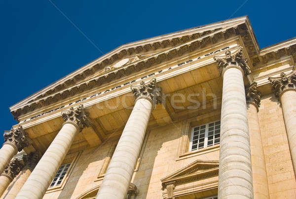 Palace facade with columns in Versailles Stock photo © Arsgera