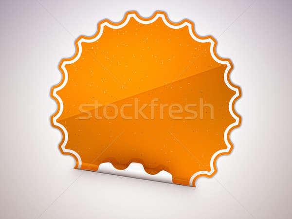 Spotted Orange round hamous sticker or label Stock photo © Arsgera