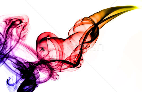 Colorful Magic fume abstract over white Stock photo © Arsgera