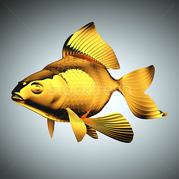Goldfish with beautiful fins and scales Stock photo © Arsgera