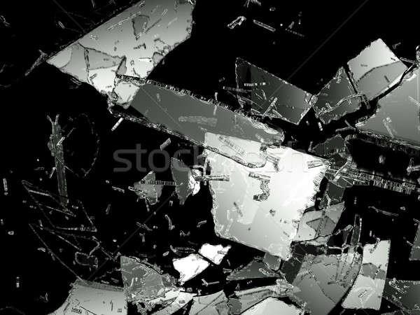 Glass Destructed or Shattered on black Stock photo © Arsgera