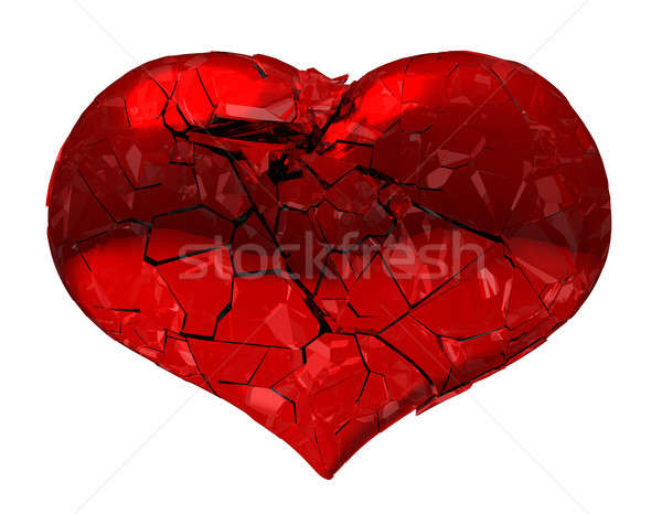 Broken Heart - unrequited love, disease, death or pain Stock photo © Arsgera