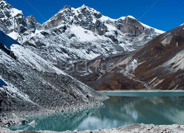 Lago montanha himalaia céu água Foto stock © Arsgera