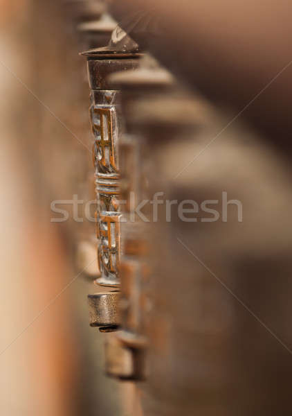 buddhism: prayer wheel in Katmandu Stock photo © Arsgera