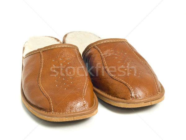 Brown mens house slippers  Stock photo © Arsgera