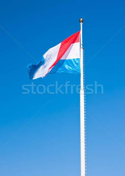 Banderą Luksemburg Błękitne niebo Fotografia miasta niebieski Zdjęcia stock © Arsgera