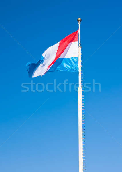 Stockfoto: Vlag · Luxemburg · blauwe · hemel · foto · stad · Blauw