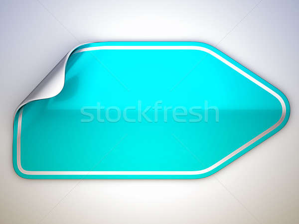 Turquoise bent sticker or label  Stock photo © Arsgera