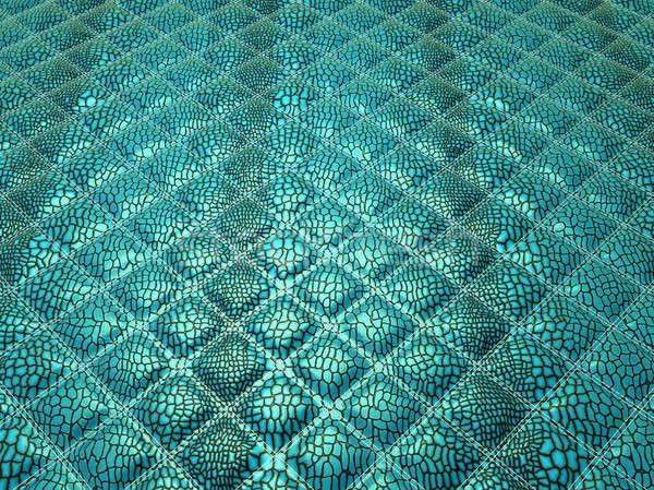 бирюзовый аллигатор кожи полезный текстуры большой Сток-фото © Arsgera