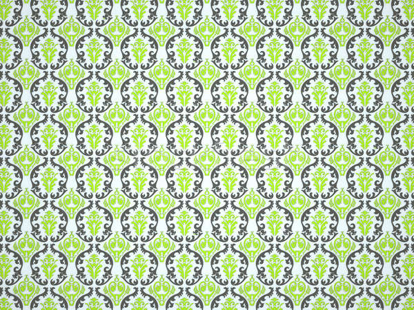 Textile or cloth with ornamental victorian pattern Stock photo © Arsgera