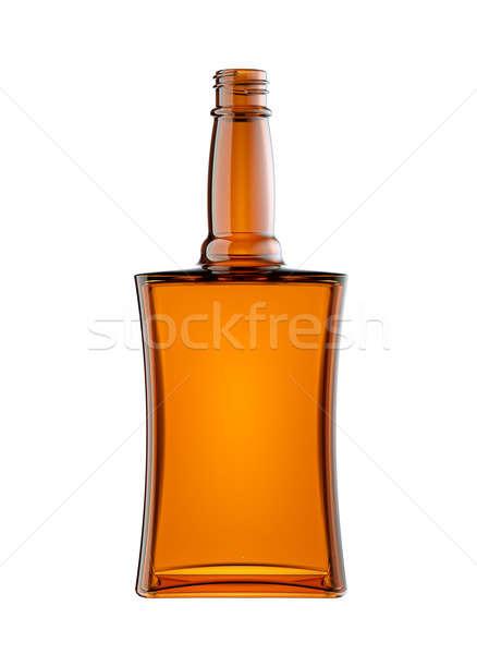 Vacío botella brandy aislado blanco beber Foto stock © Arsgera