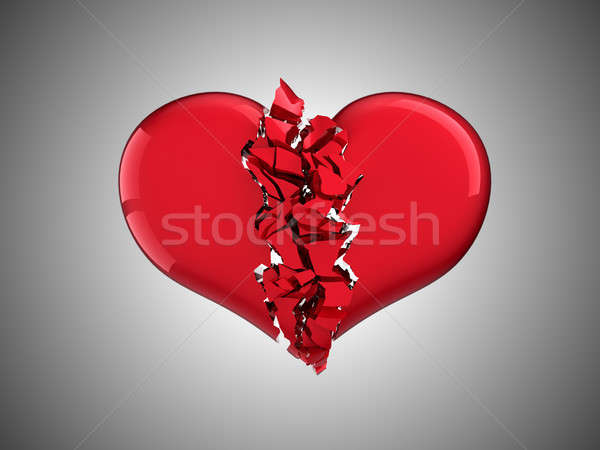 Divorce and love. Broken Heart Stock photo © Arsgera