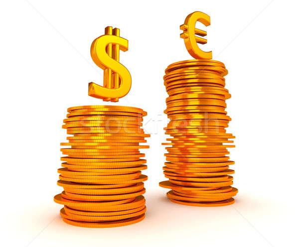 Euro Currency dominancy over US dollar Stock photo © Arsgera