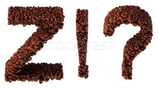 Caffè carattere wow cosa simboli Foto d'archivio © Arsgera