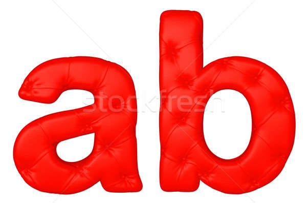Stock photo: Luxury red leather font A B letters