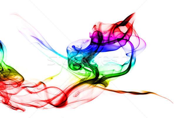 Gradient Colored fume shape on white background Stock photo © Arsgera