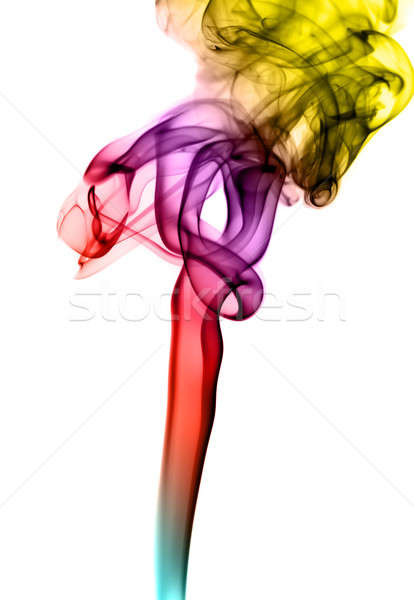 Colorful Abstraction: fume shape on white Stock photo © Arsgera