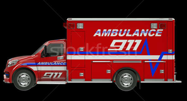 Ambulance: Side view of emergency services vehicle over black Stock photo © Arsgera