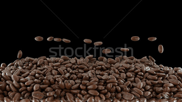 Coffee crop roasting and mixing isolated  Stock photo © Arsgera
