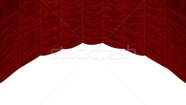 Red Curtain with beautiful pattern Stock photo © Arsgera